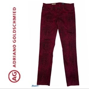 AG Adriano Goldschmied Animal Print Jeans